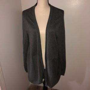 Lands End gray open front cardigan Size 1x